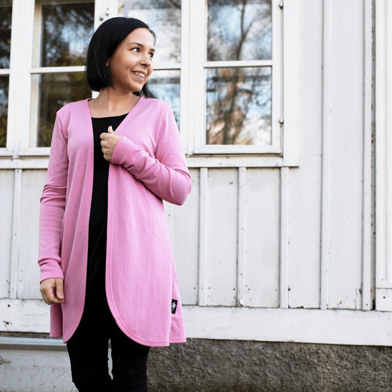 PaaPii Design Syli Merinovillatakki vaaleanpunainen 1