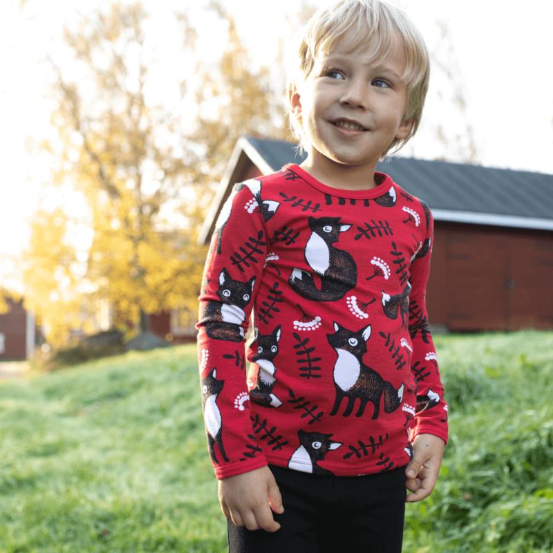 PaaPii Design Uljas paita Nuutti punainen-ruoste 1