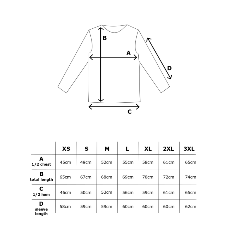 Kanto Design Sopiva paita kokotaulukko
