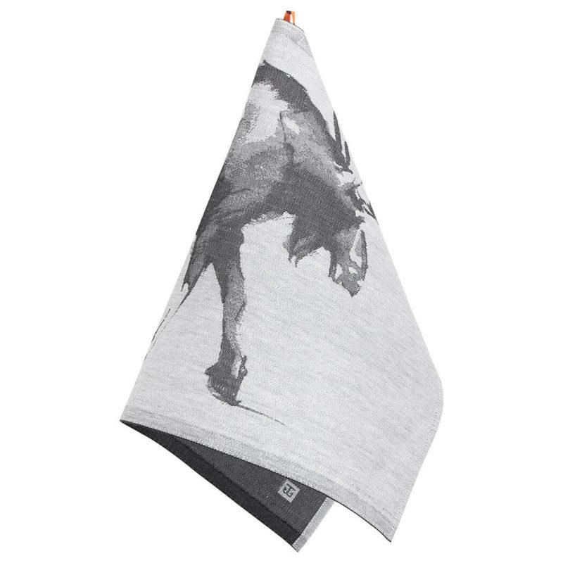 Lapuan Kankurit Teemu Järvi Hirvi pyyhe 46x70cm valko-musta