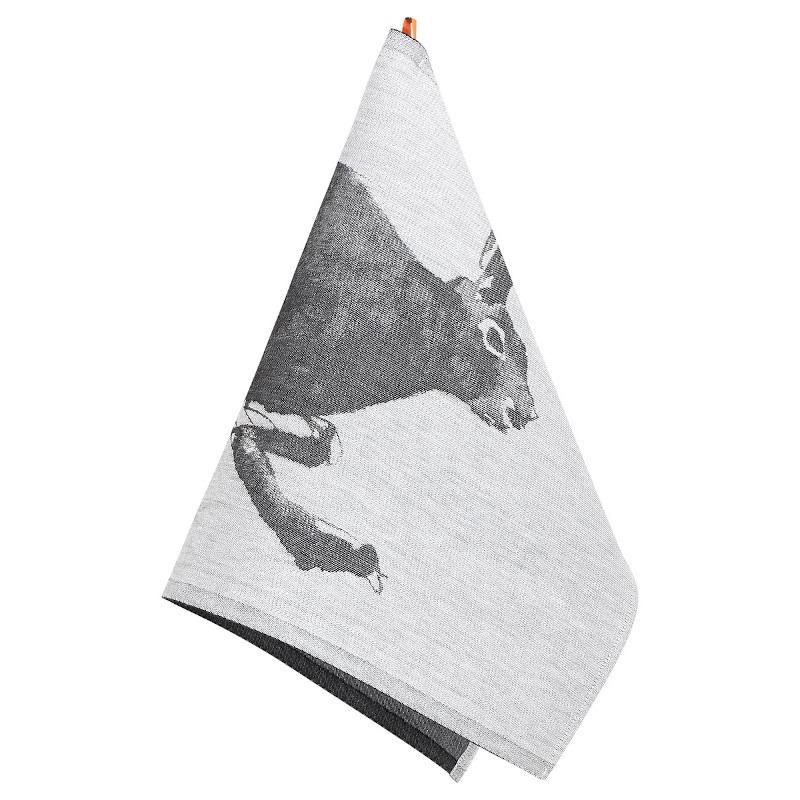 Lapuan Kankurit Teemu Järvi Jänis pyyhe 46x70cm valko-musta