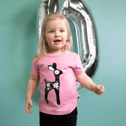 PaaPii Design 10v Visa T-paita Bambi vaaleanpunainen