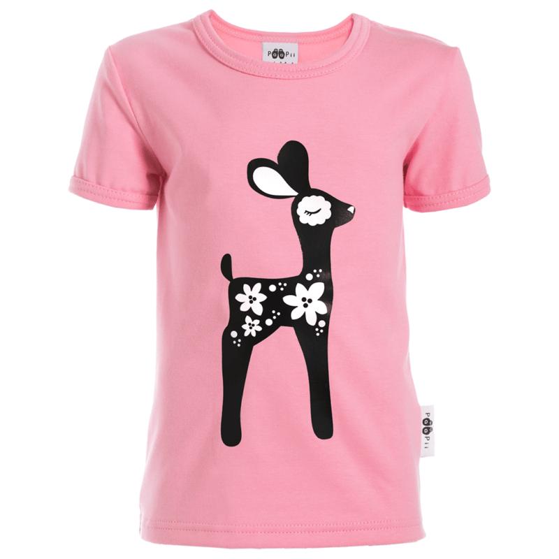PaaPii Design 10v Visa T-paita Bambi vaaleanpunainen2