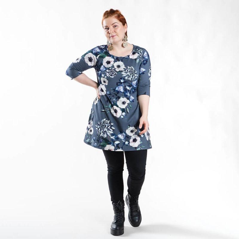 Ehta Bertta tunika Baroque Flowers sininen 10