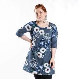 Ehta Bertta tunika Baroque Flowers sininen 6