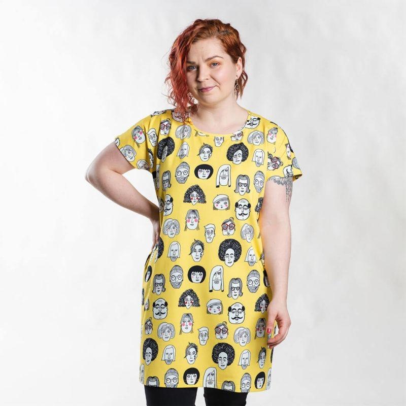 Ehta Iita Tee oversize paita Boys & girls Vibrant yellow 1