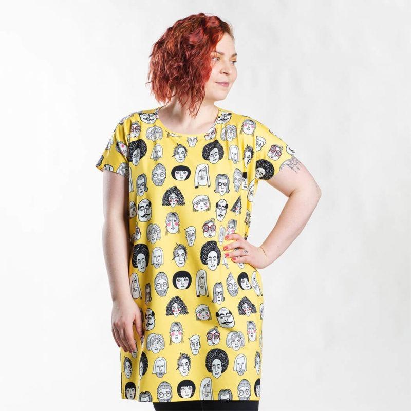 Ehta Iita Tee oversize paita Boys & girls Vibrant yellow 2