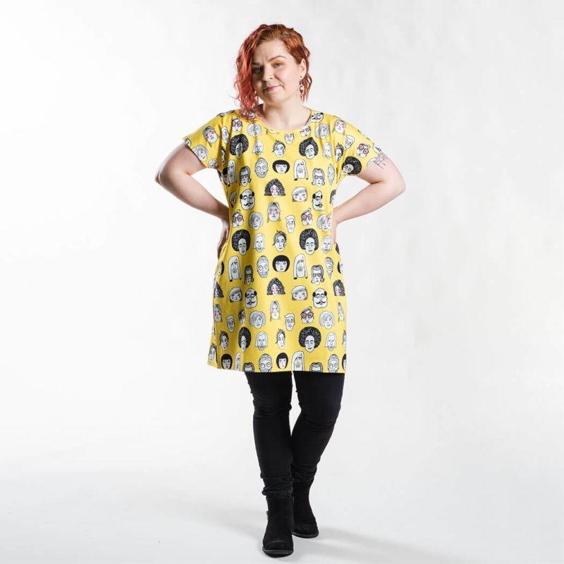Ehta Iita Tee oversize paita Boys & girls Vibrant yellow 5