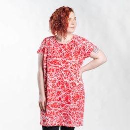 Ehta Iita Tee oversize paita Reitti punainen 1
