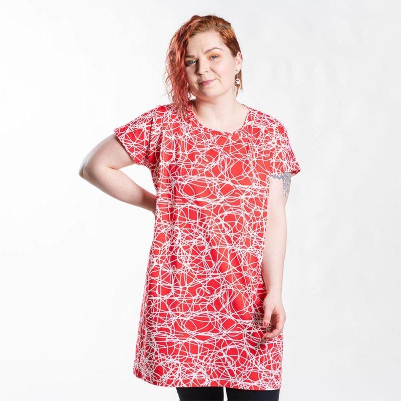 Ehta Iita Tee oversize paita Reitti punainen 2