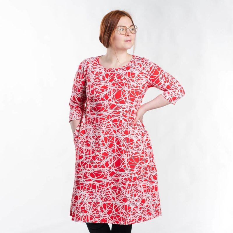 Ehta Marjukka mekko Reitti punainen 1