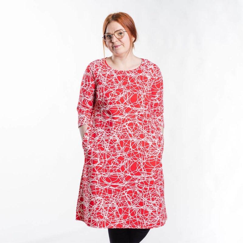 Ehta Marjukka mekko Reitti punainen 2