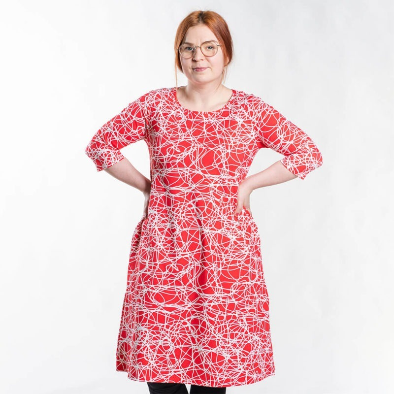 Ehta Marjukka mekko Reitti punainen 3