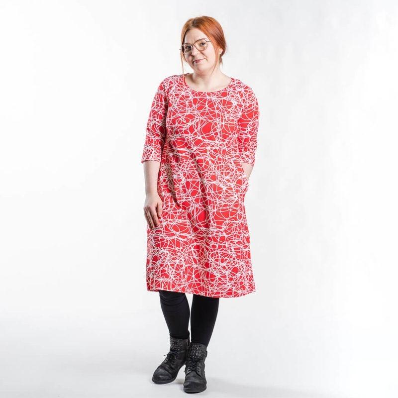 Ehta Marjukka mekko Reitti punainen 4