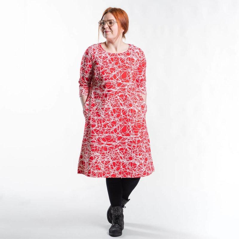Ehta Marjukka mekko Reitti punainen 5