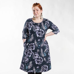 Ehta Marjukka mekko Serenity noki-violetti 5