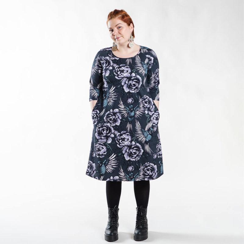 Ehta Marjukka mekko Serenity noki-violetti 8