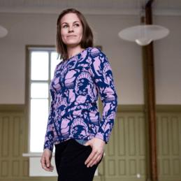 PaaPii Design Aava paita Pohjolan portti lila-mustikka02