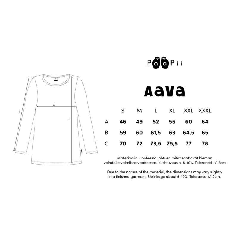 PaaPii Design Aava paita kokotaulukko
