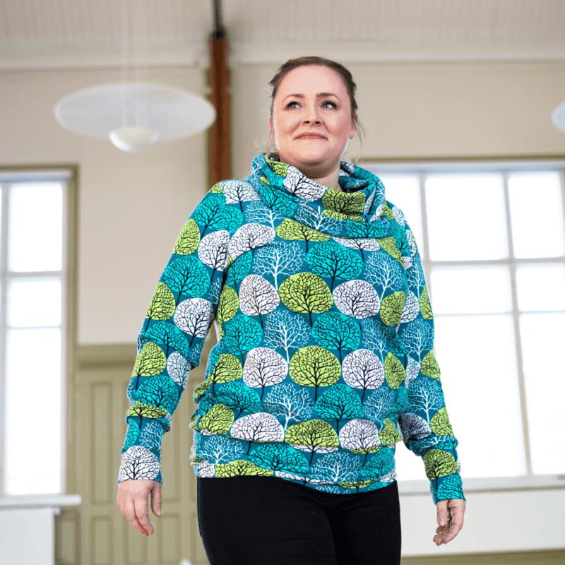 PaaPii Design Halla huppari Vuodenajat petrooli-omena 02