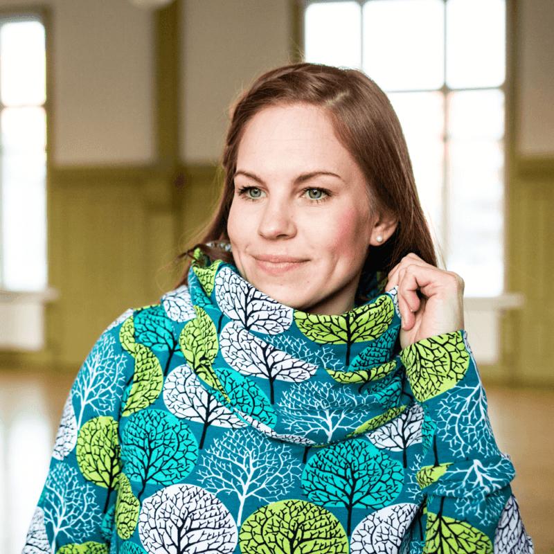 PaaPii Design Halla huppari Vuodenajat petrooli-omena 06