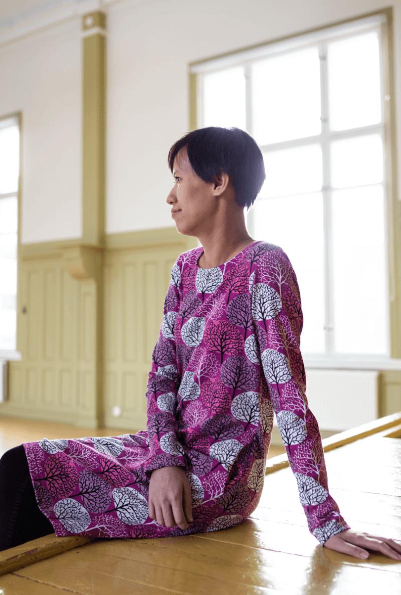 PaaPii Design Sini mekko Vuodenajat violetti-pinkki7