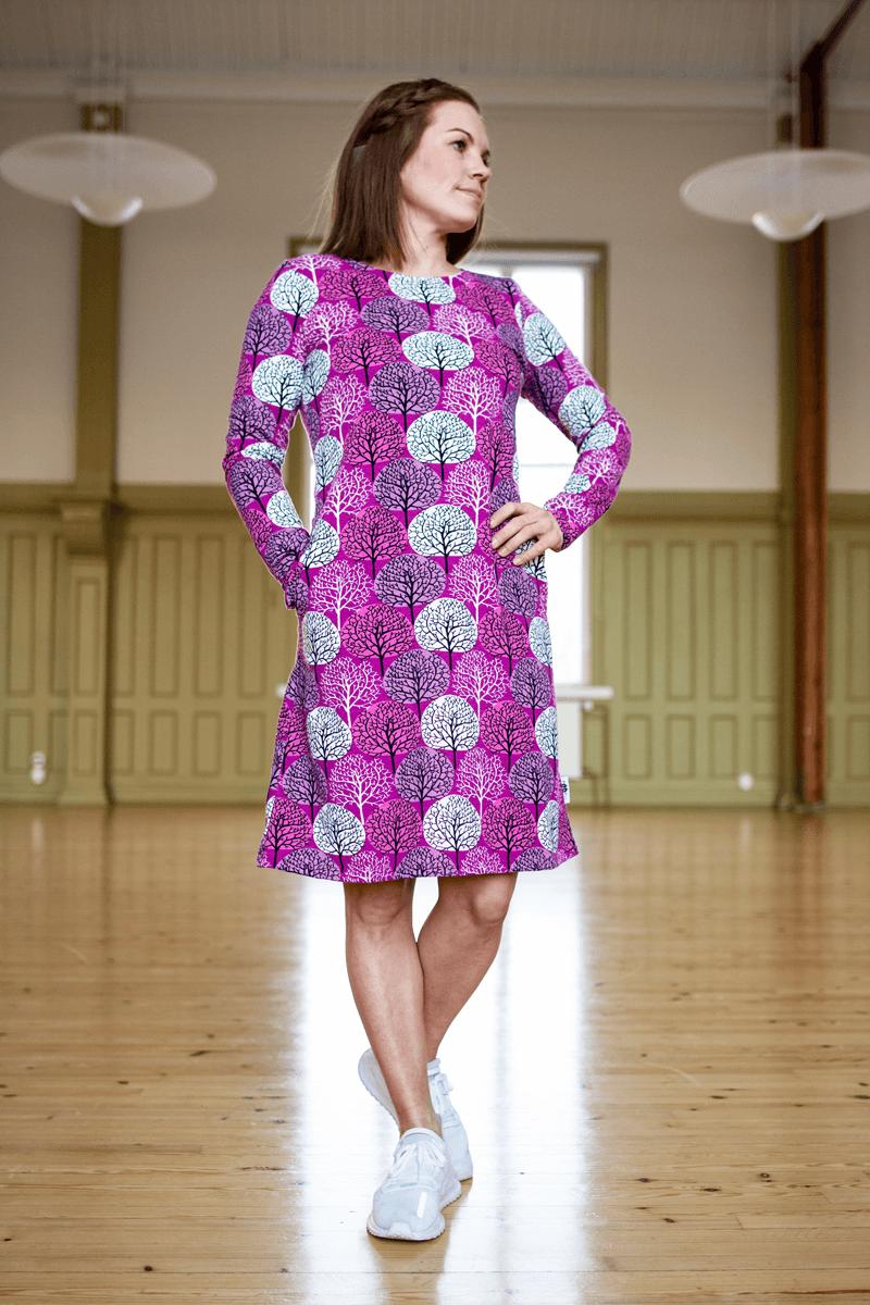 PaaPii Design Sini mekko Vuodenajat violetti-pinkki8