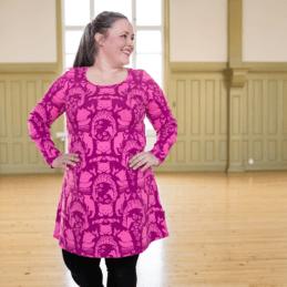 PaaPii Design Sumu tunika Pohjolan portti pinkki-violetti1