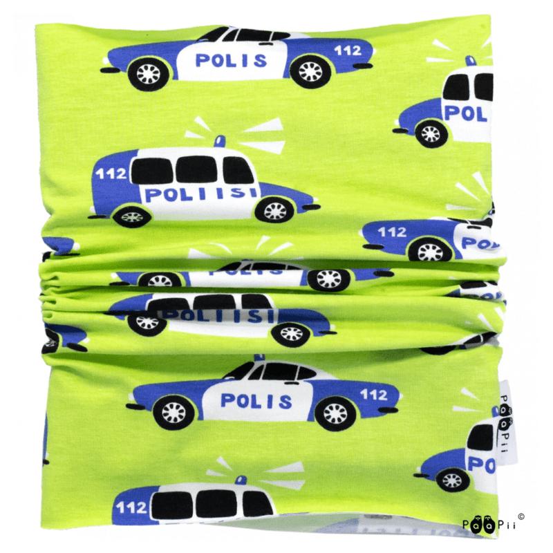 PaaPii Design Tuubihuivi Poliisi omena-sininen