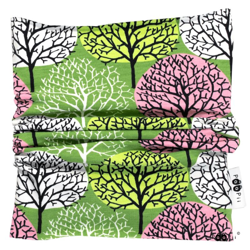 PaaPii Design Tuubihuivi Vuodenajat metsä-vaaleanpunainen