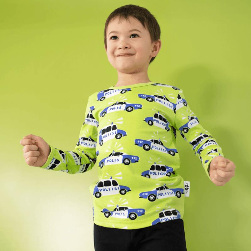 PaaPii Design Uljas paita Poliisi omena-sininen 1
