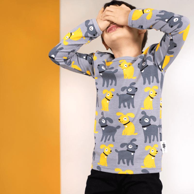 PaaPii Design Uljas paita Sesse harmaa-aurinko 2