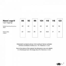 PaaPii Design Henni caprit kokotaulukko