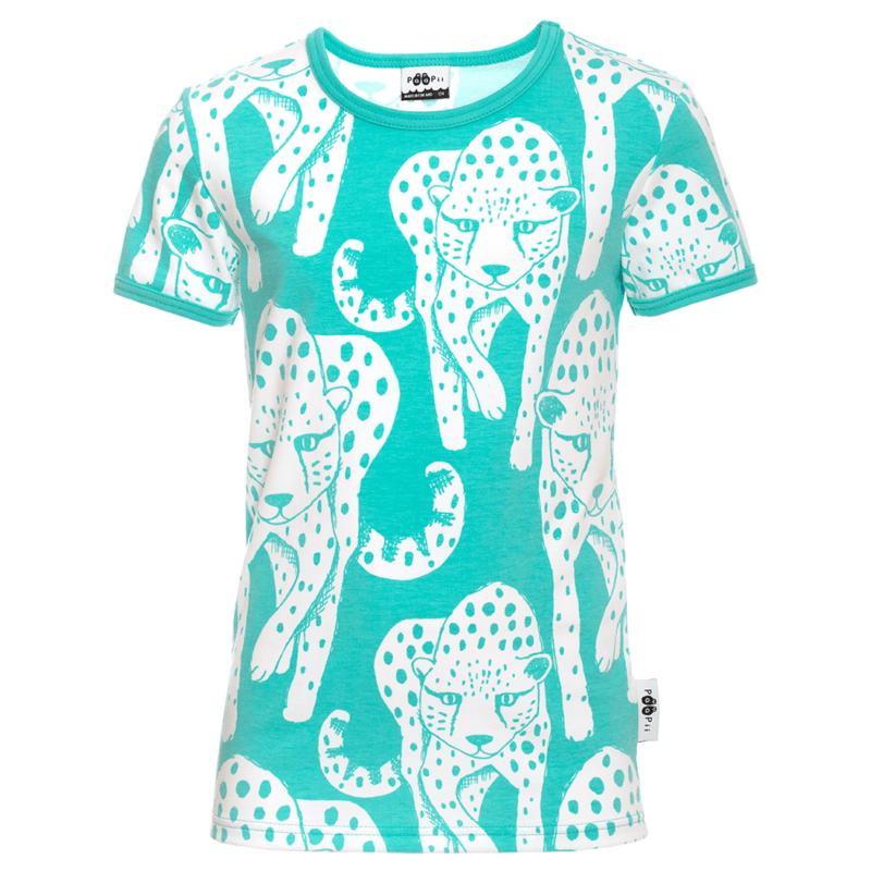 PaaPii Design KAIKU t-paita Gepardi turkoosi