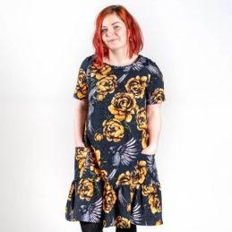 Ehta Amalia mekko Serenity noki-keltainen 2
