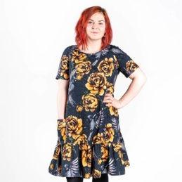 Ehta Amalia mekko Serenity noki-keltainen
