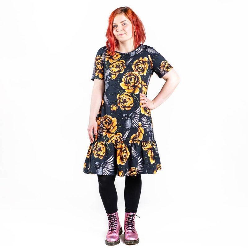 Ehta Amalia mekko Serenity noki-keltainen 3