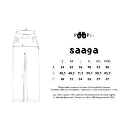 PaaPii Design Saaga housut mittataulukko