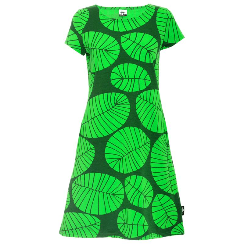PaaPii Design Sointu mekko Banaaninlehti vihreä