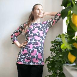 PaaPii Design Usva paita Sitruuna vaaleanpunainen1