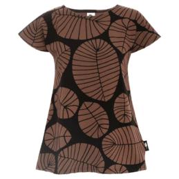 PaaPii Design Vuono T-paita Banaaninlehti suklaa