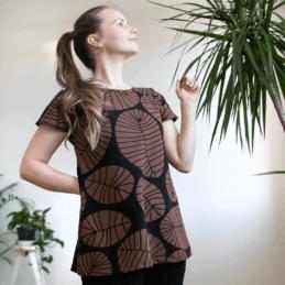 PaaPii Design Vuono T-paita Banaaninlehti suklaa1