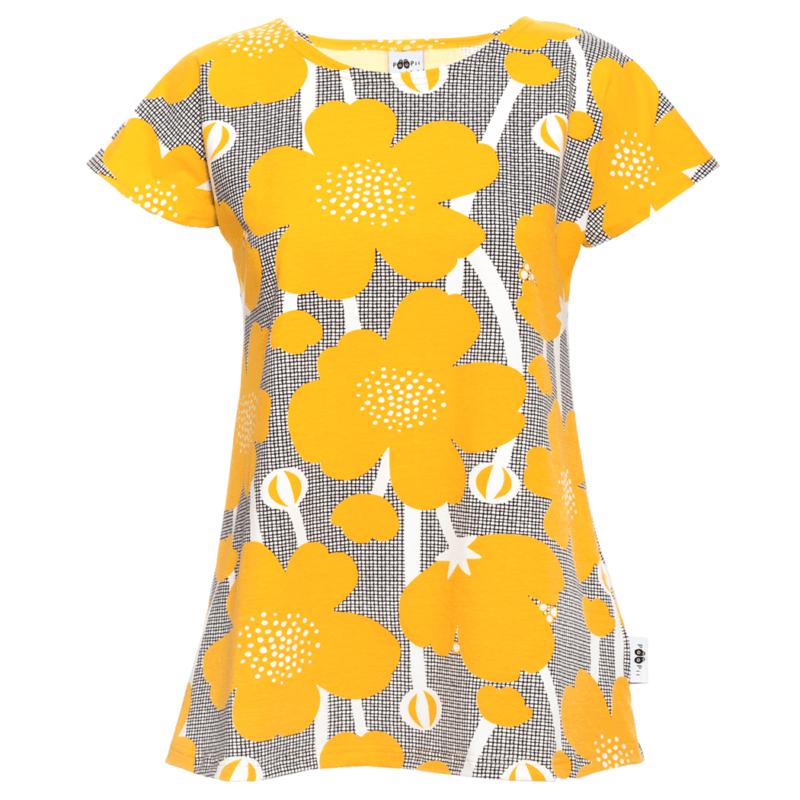 PaaPii Design Vuono T-paita Niittyleinikki aurinko
