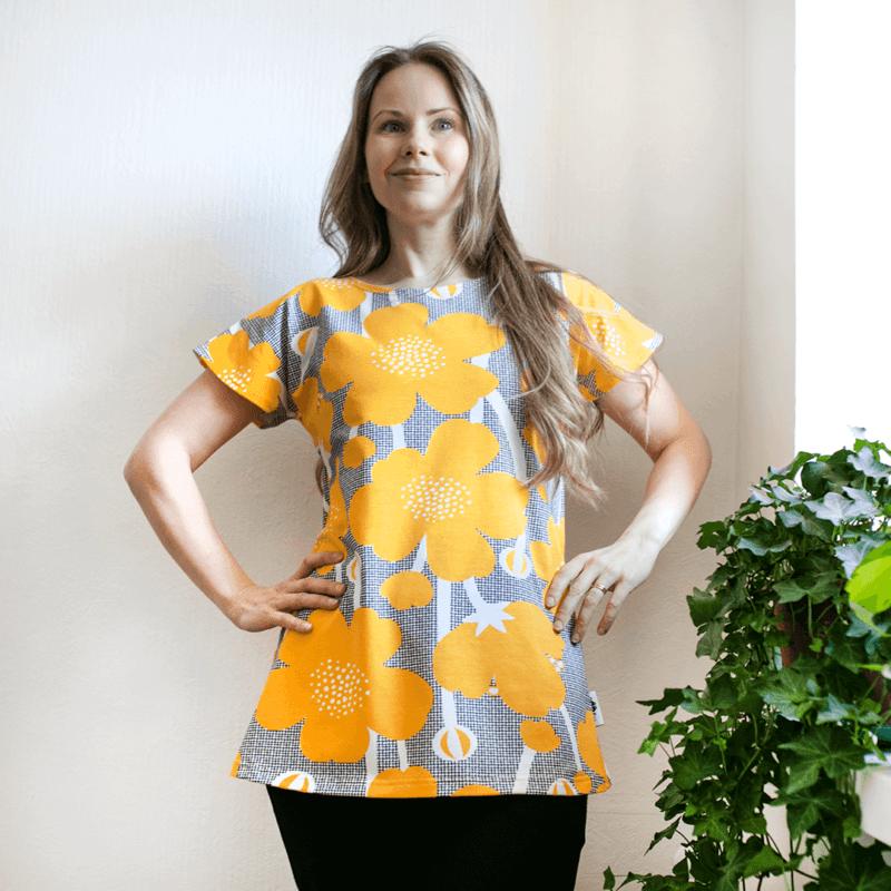 PaaPii Design Vuono T-paita Niittyleinikki aurinko1
