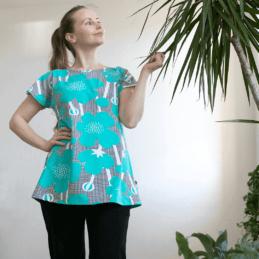 PaaPii Design Vuono T-paita Niittyleinikki turkoosi1