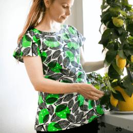 PaaPii Design Vuono T-paita Sitruuna vihreä 2