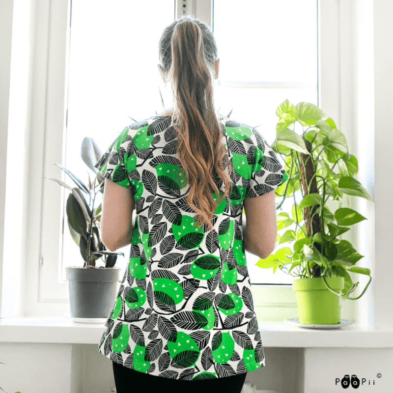 PaaPii Design Vuono T-paita Sitruuna vihreä 3