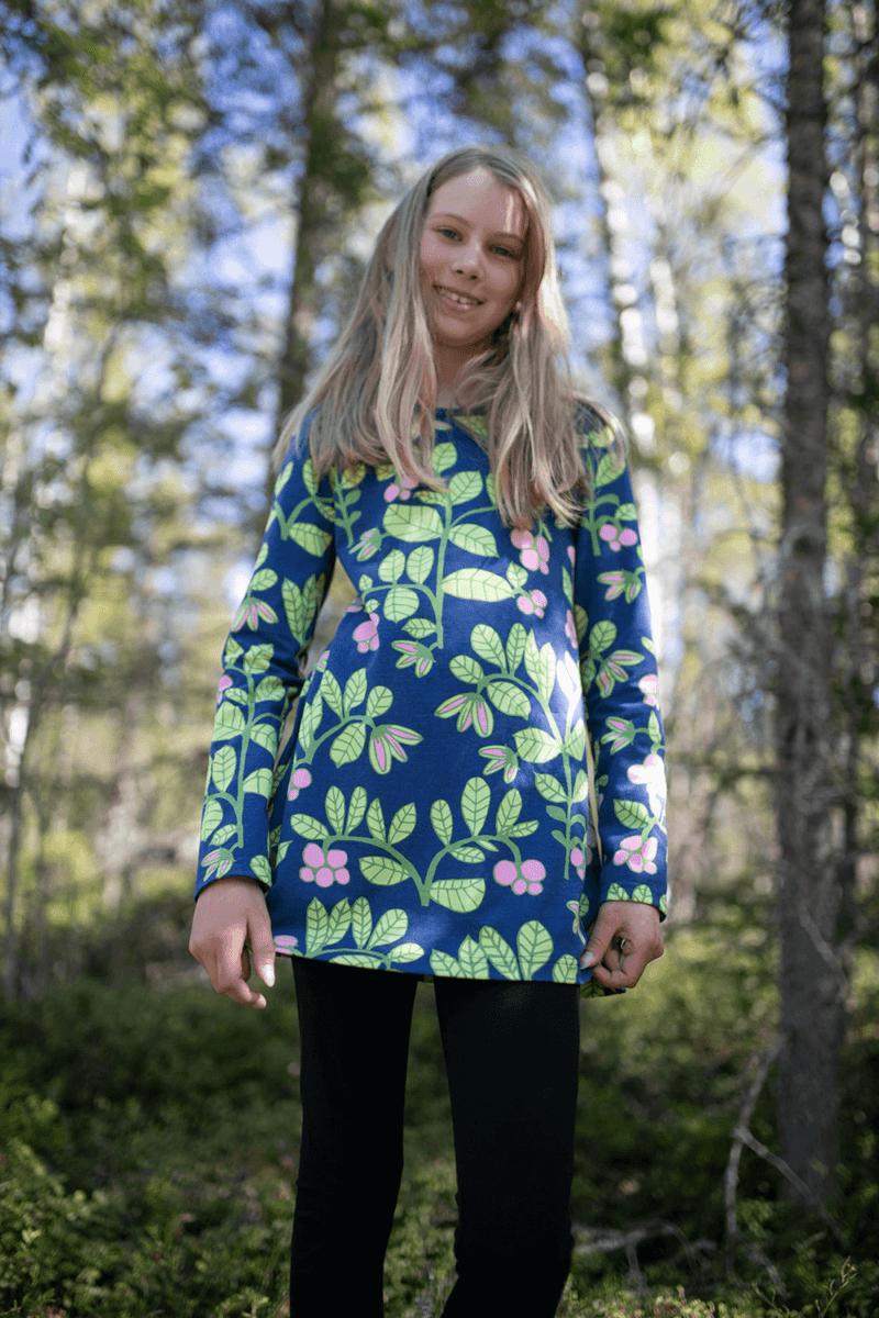 PaaPii Design Nelli tunika Puolukkapuu mustikka-omena 3