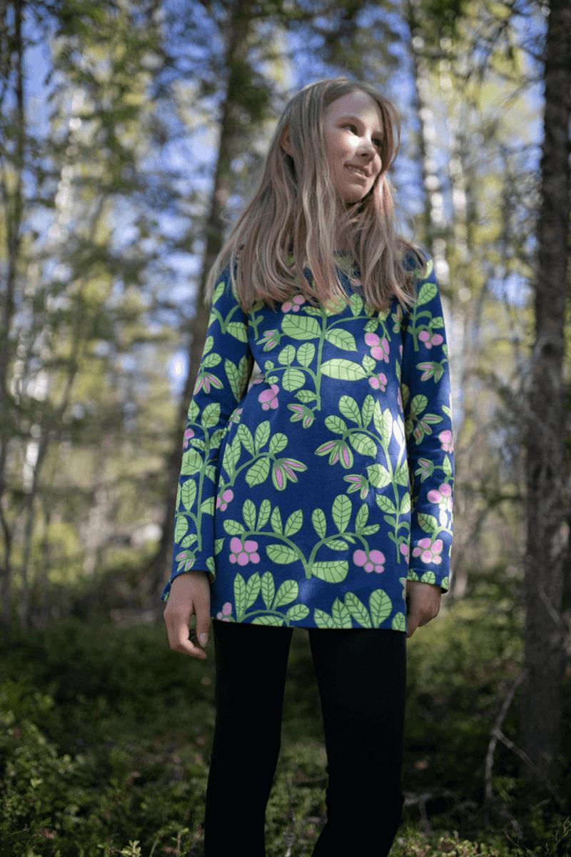 PaaPii Design Nelli tunika Puolukkapuu mustikka-omena 4