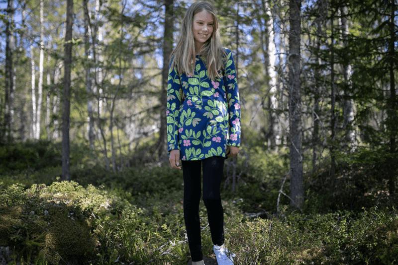 PaaPii Design Nelli tunika Puolukkapuu mustikka-omena 6